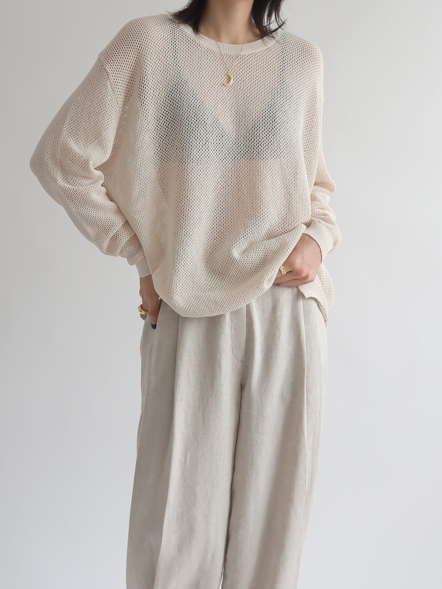 s/s cotton knit (cream)