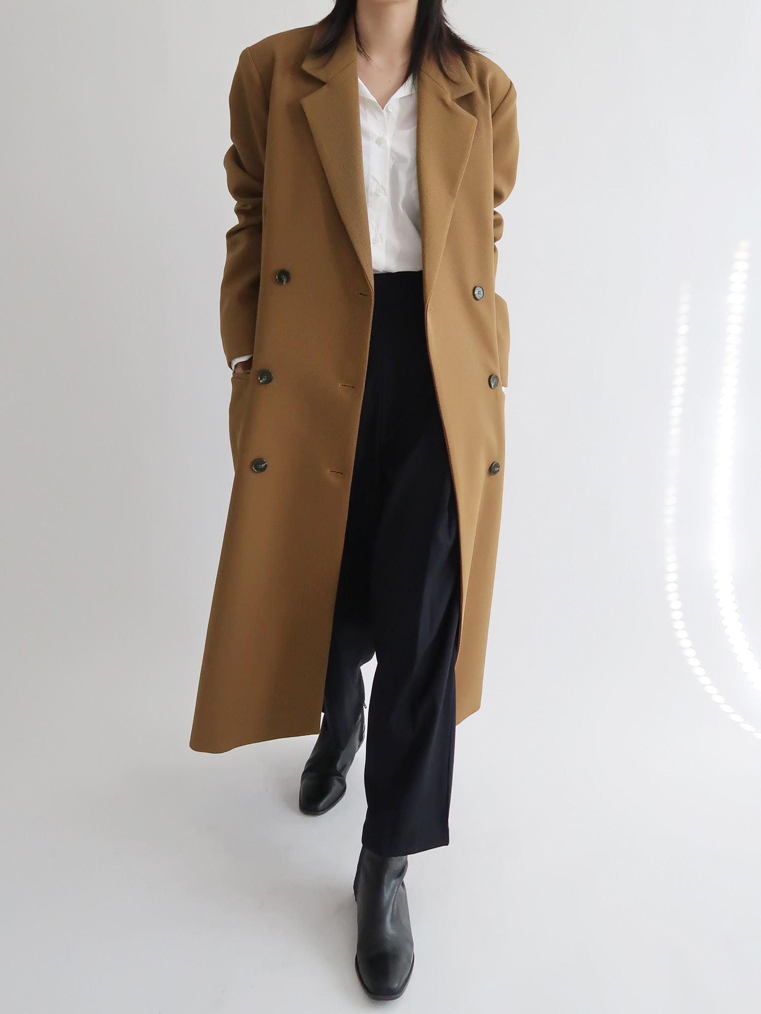 double long coat (brown)