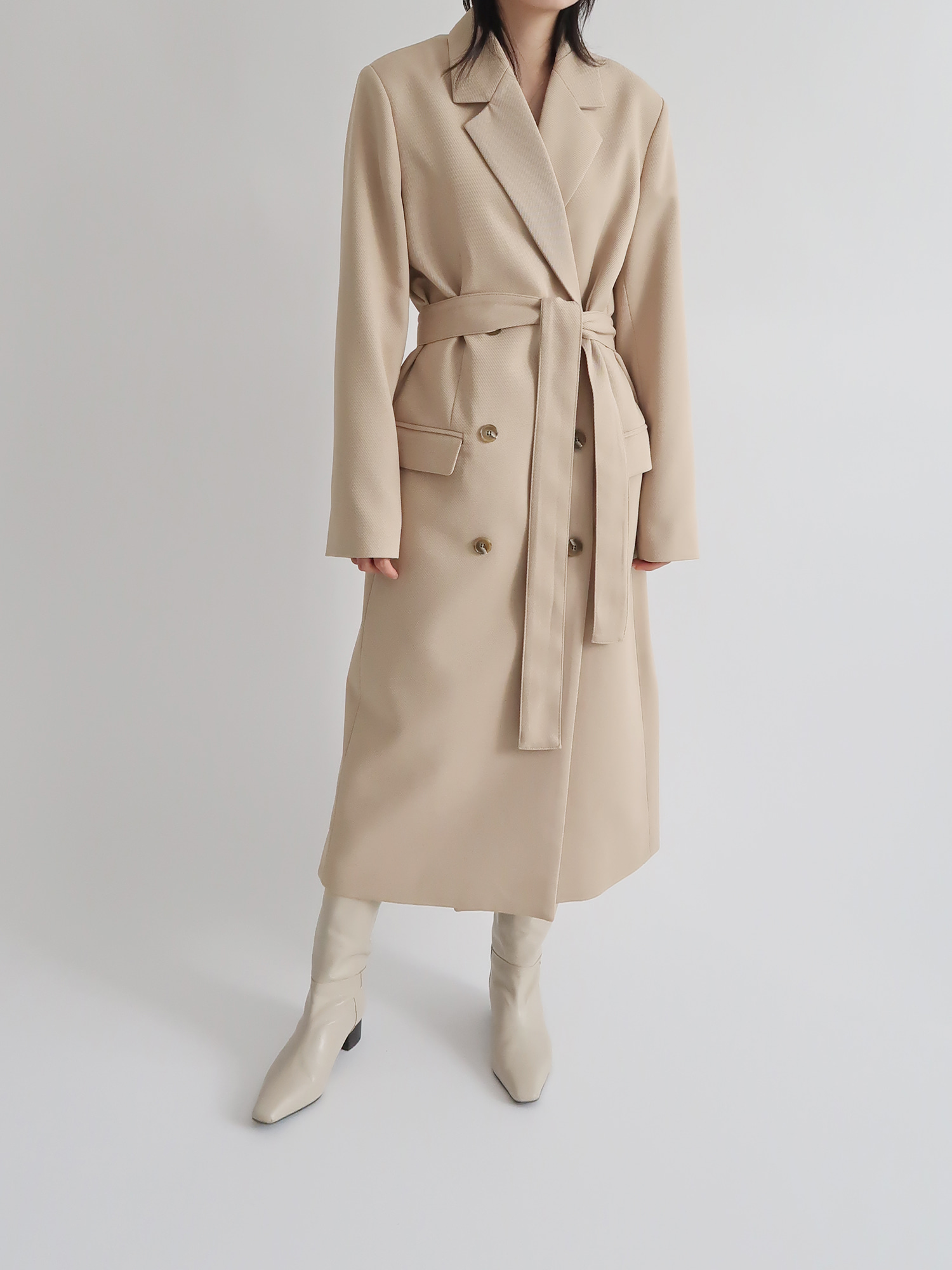double long coat (beige)