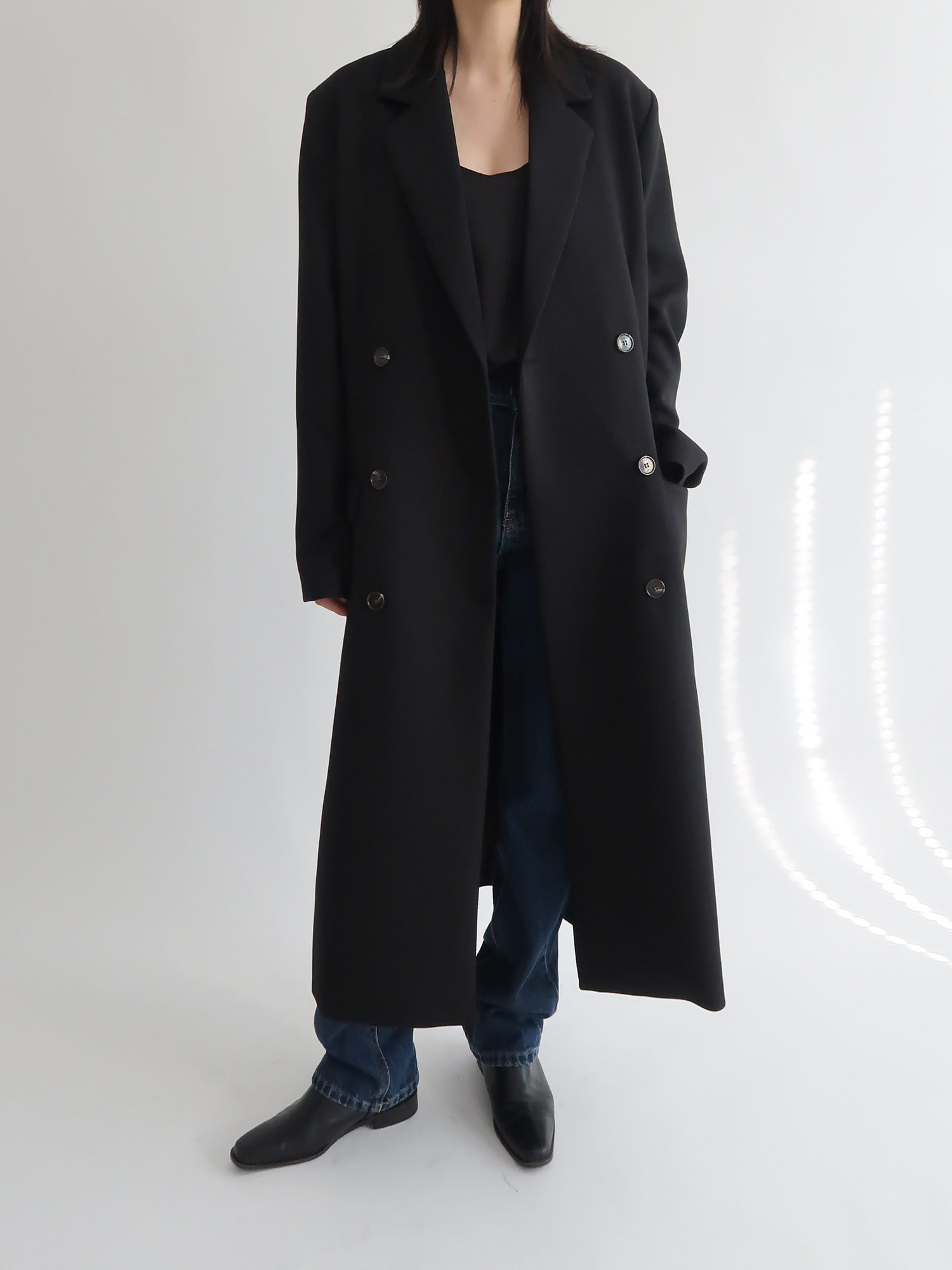 double long coat (black)