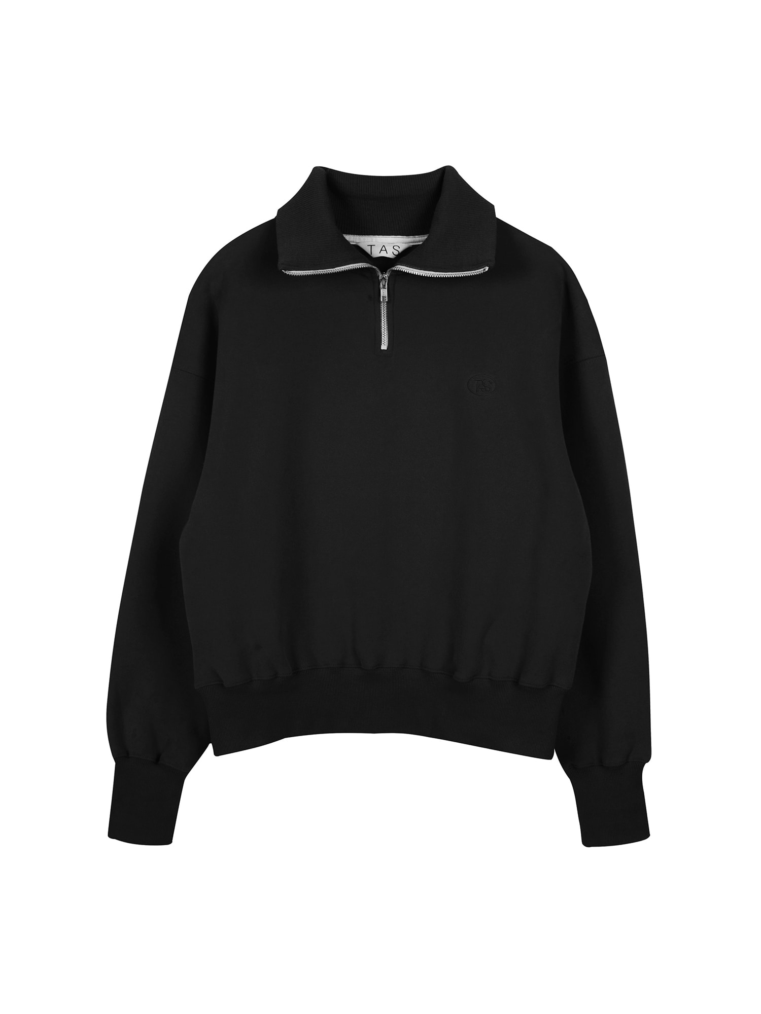 tas zip up sweat shirt (Black)