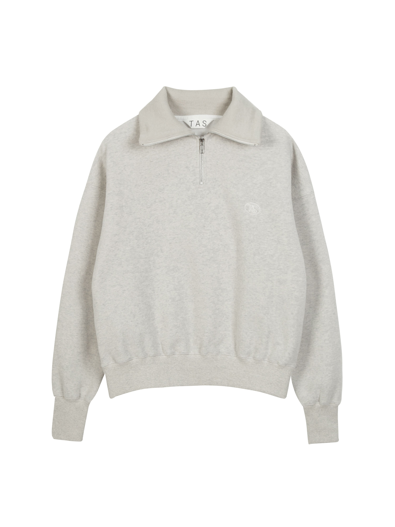 tas zip up sweat shirt (Oat)