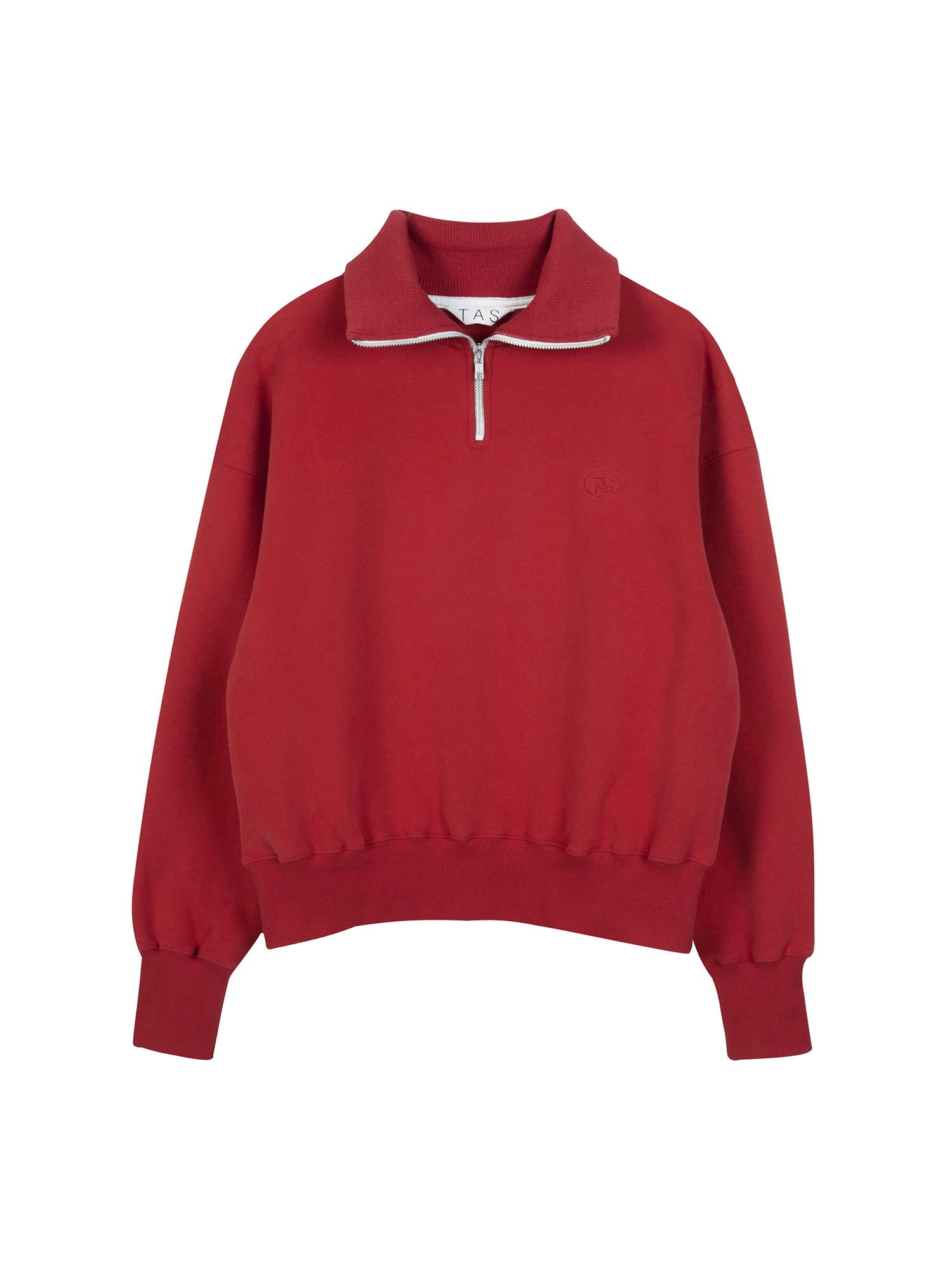 tas zip up sweat shirt (Red)